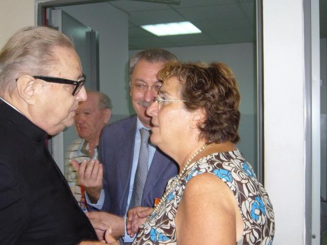 Giuliana Martirani con Mons Nogaro