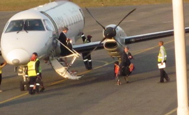 Arrivo all'aeroporto di Beira di Madre Samuela e Suor Rita