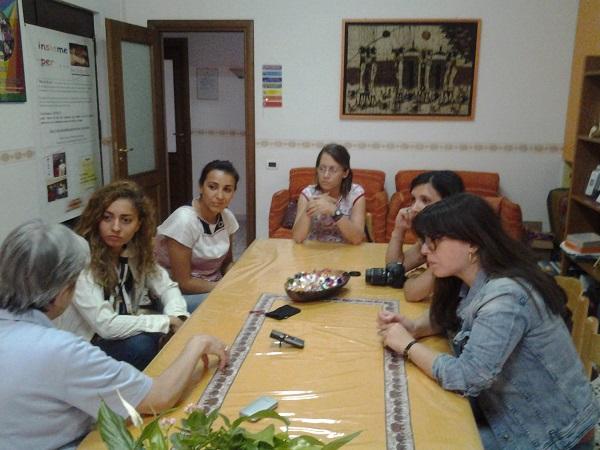 con le volontarie CRI di Maddaloni