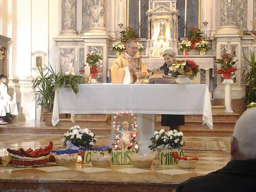 celebrazione in parrocchia  a quinto vicentino