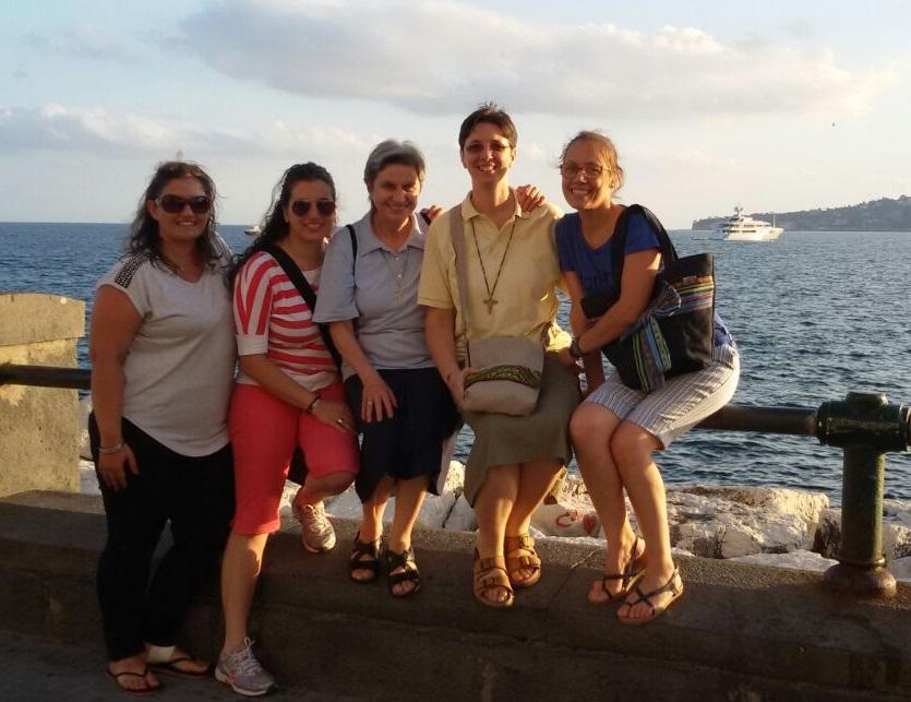Un giorno a Napoli con sr Kathia e le amiche Antonella, Alessandra e Marcella