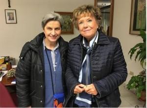 Dacia Maraini con Sr Rita all'ITIS Buonarroti