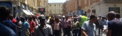 Manifestazione antirazzista a Caserta
